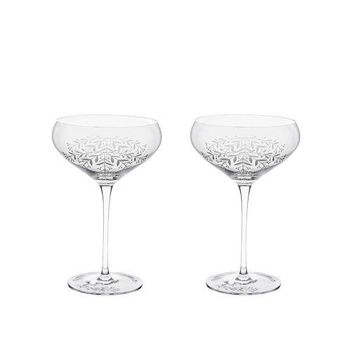 Floral Crystal Coupe Set