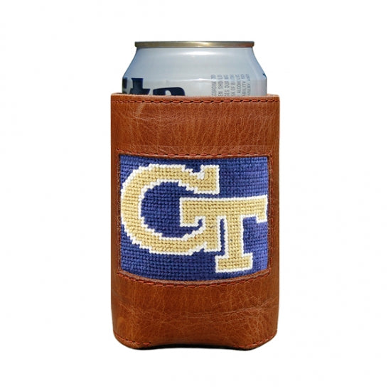 Smathers & Branson Georgia Tech Needlepoint Can Cooler