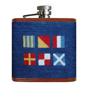 Smathers & Branson 'Got Rum' Needlepoint Flask