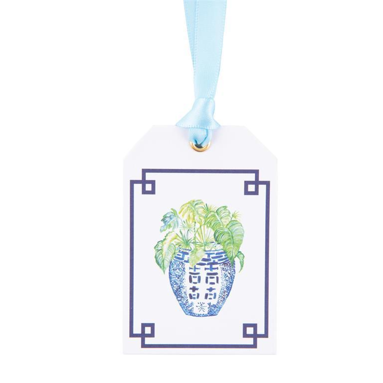 Green Leaf Bottle Tags