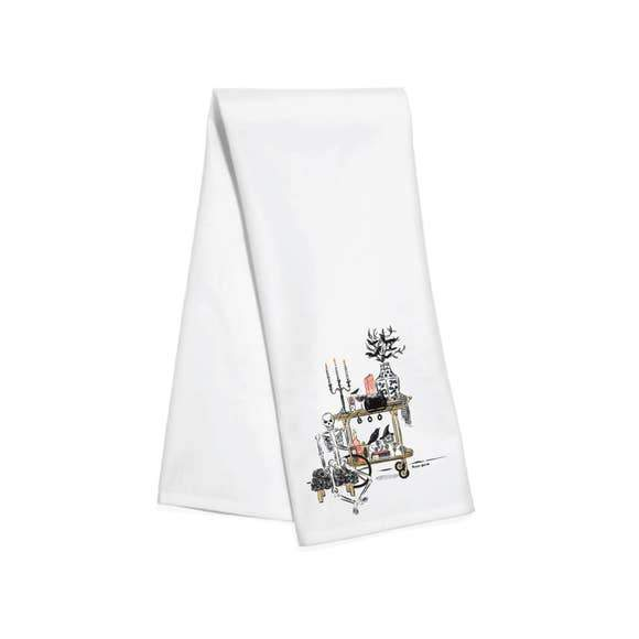 Spooky Bar Cart Towel
