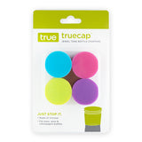 TrueCap Set of 4 Jewel Tone Bottle Stoppers by True