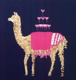 Llama Serving Champagne Cocktail Napkins