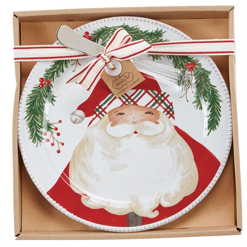 Santa Cheese Plate & Spreader