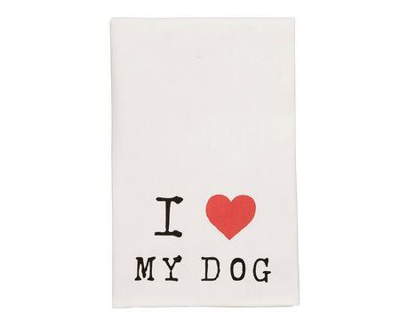 I Love My Dog Bar Towel