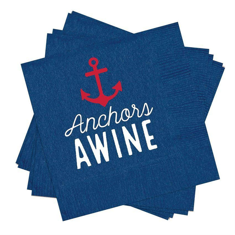 Anchors Awine Cocktail Napkins