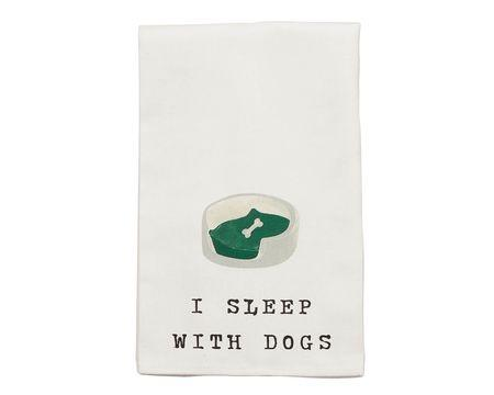 I Sleep with Dogs Bar Towel
