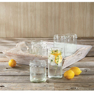 Hammered Dot Double Old Fashioned Glass