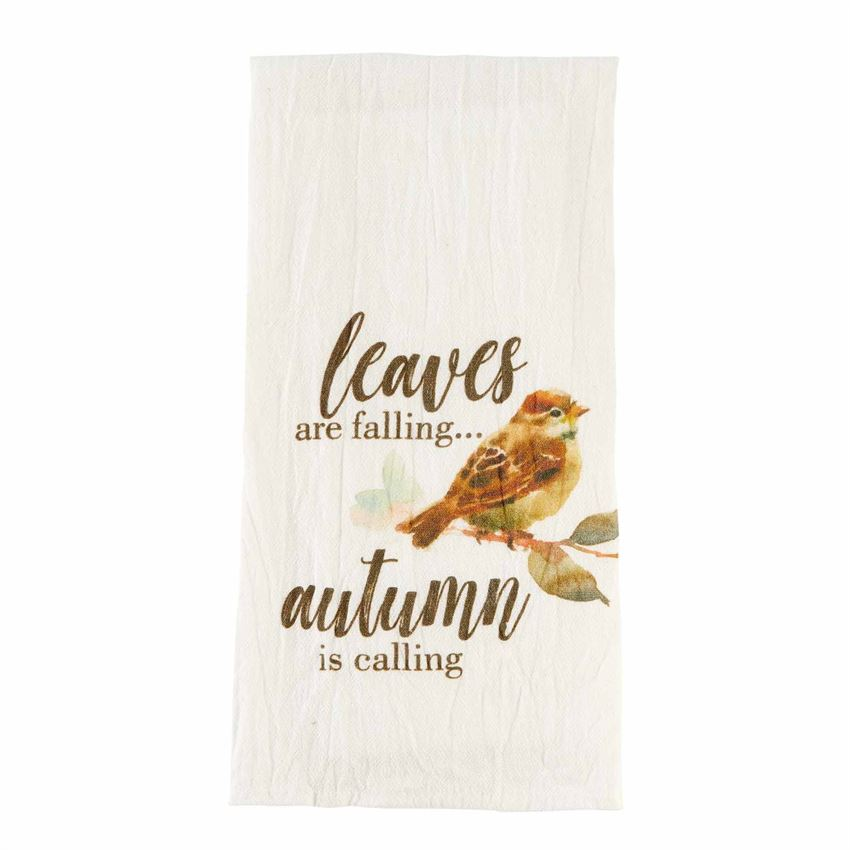Leaves Are Falling Bar Cart Towel