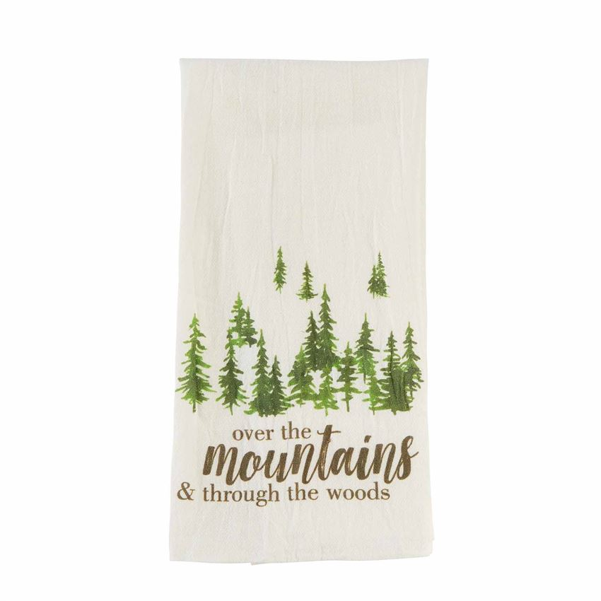 Over the Mountains Bar Cart Towel