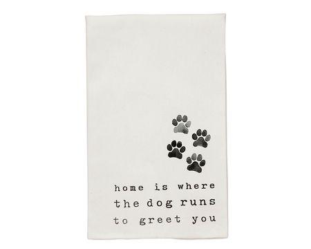 Greeting Dog Bar Towel
