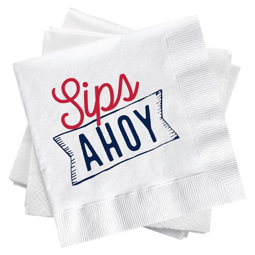 Sips Ahoy Cocktail Napkins