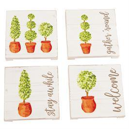 Topiary Coaster Set