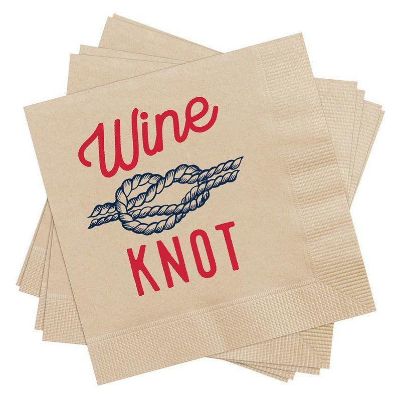 Wine Knot Cocktail Napkins