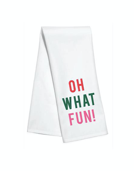 Oh What Fun Bar Towel