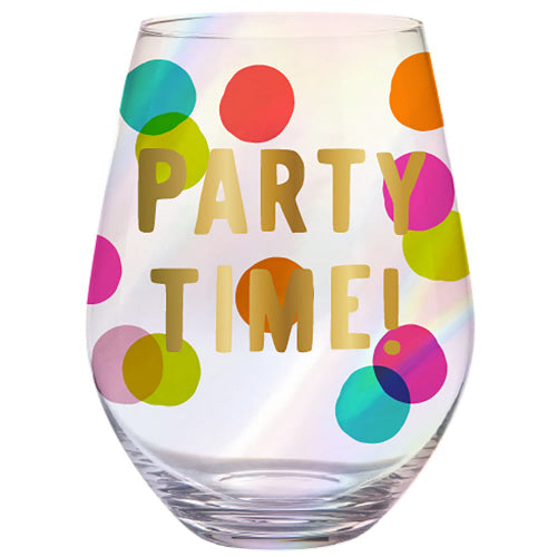 Party Time Stemless Wine