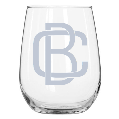 Monogram Block Wine Glass