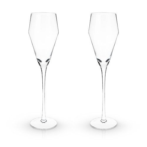 Viski® Crystal Prosecco Glasses