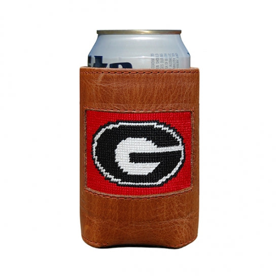 Smathers & Branson UGA Red Needlepoint Can Cooler