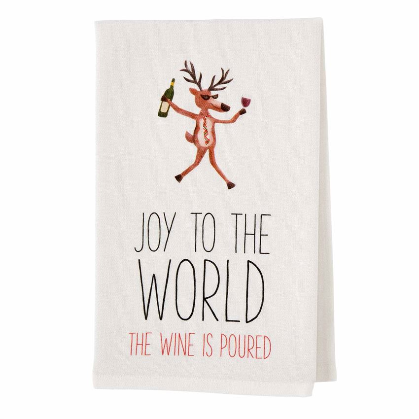 Reindeer Drinking Bar Cart Towel