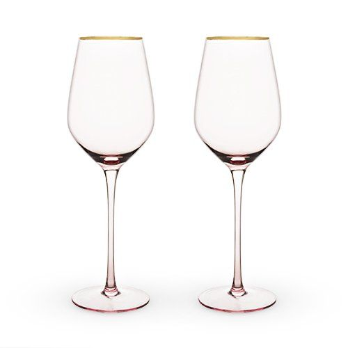 Pink Crystal Wine Glass Set
