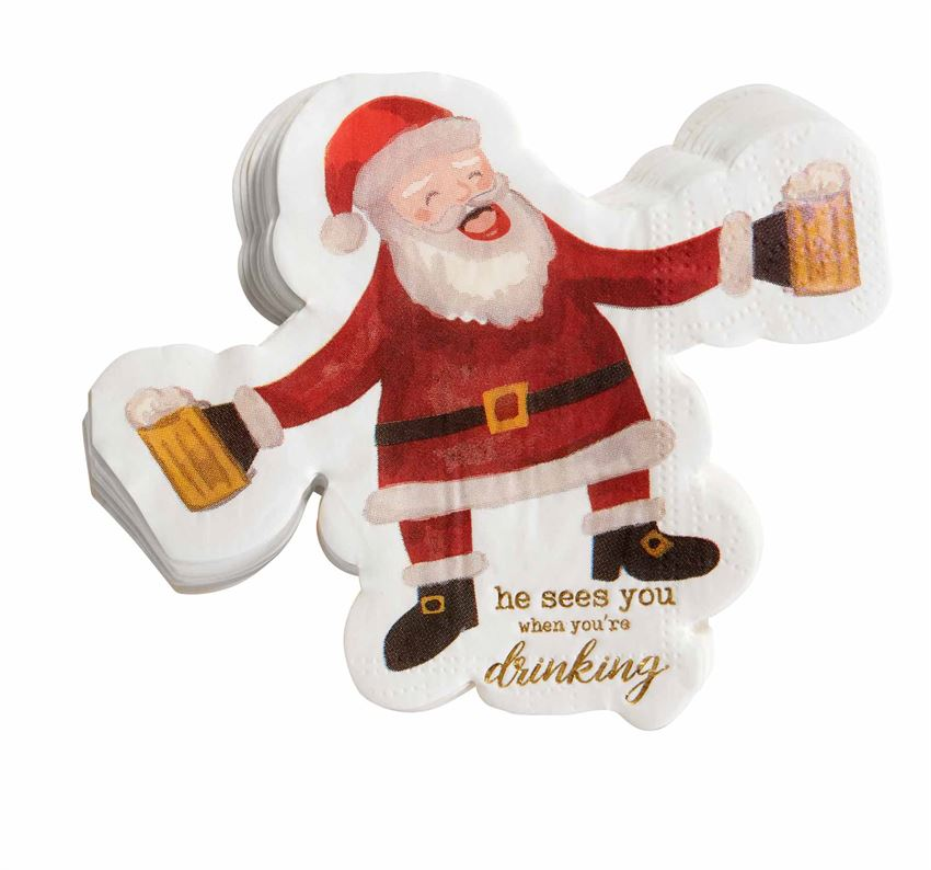 Santa Drinking Cocktail Napkins