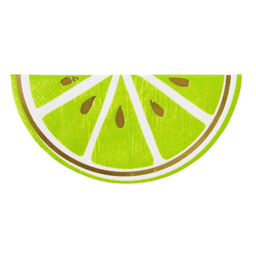 Shaped Lime Cocktail Napkins