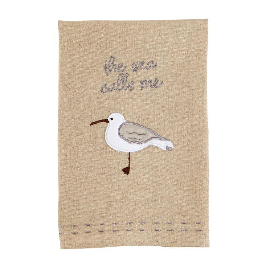 She Calls Shore Bird Bar Towel