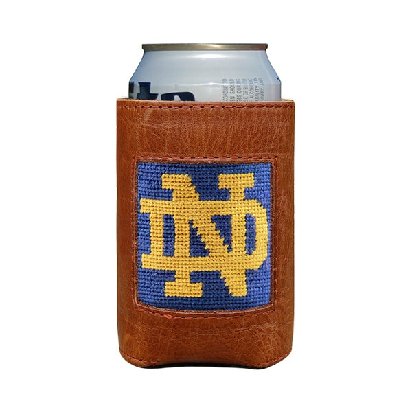 Smathers & Branson Notre Dame Oklahoma Needlepoint Can Cooler
