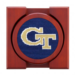 Georgia Tech Needlepoint Coaster Set