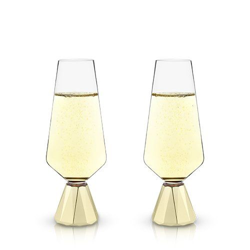 Spire Crystal Champagne Flutes