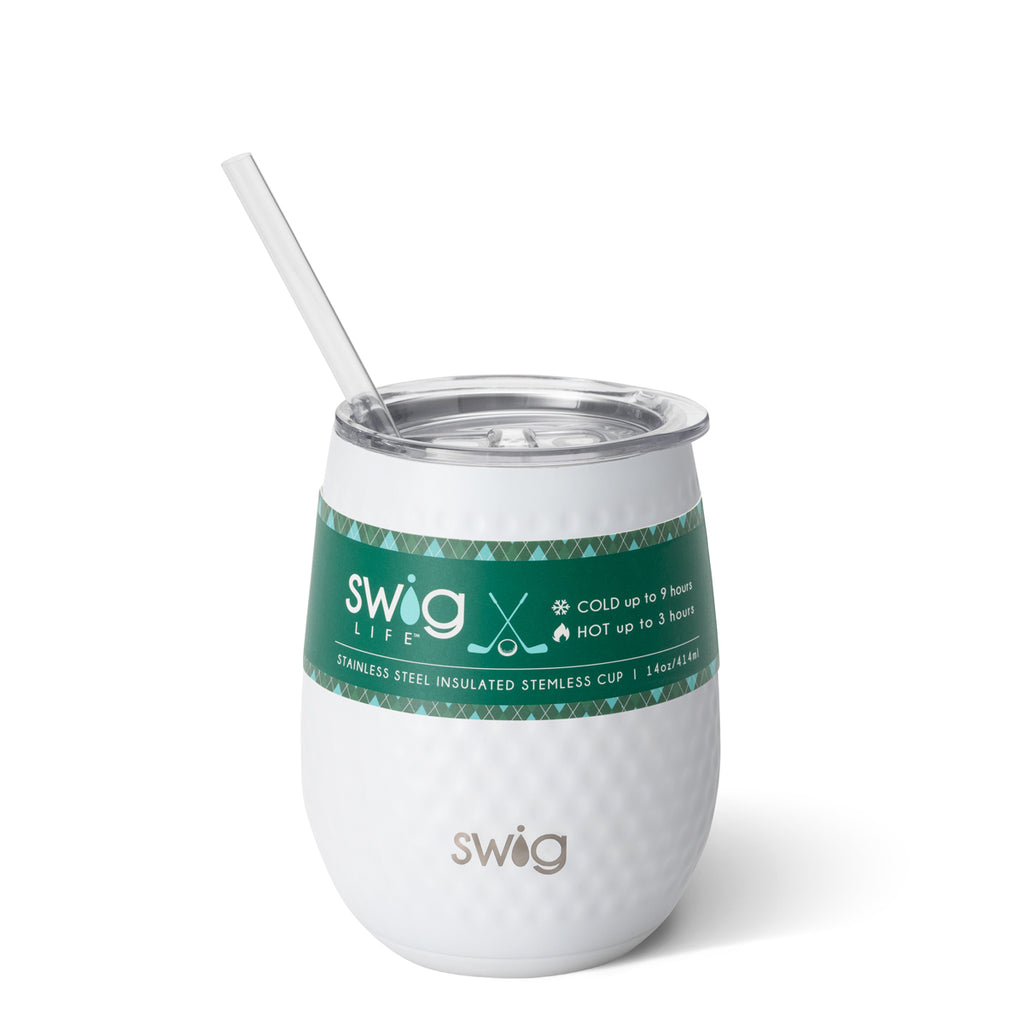 Swig 14oz Stemless Wine Cup - Golf Ball