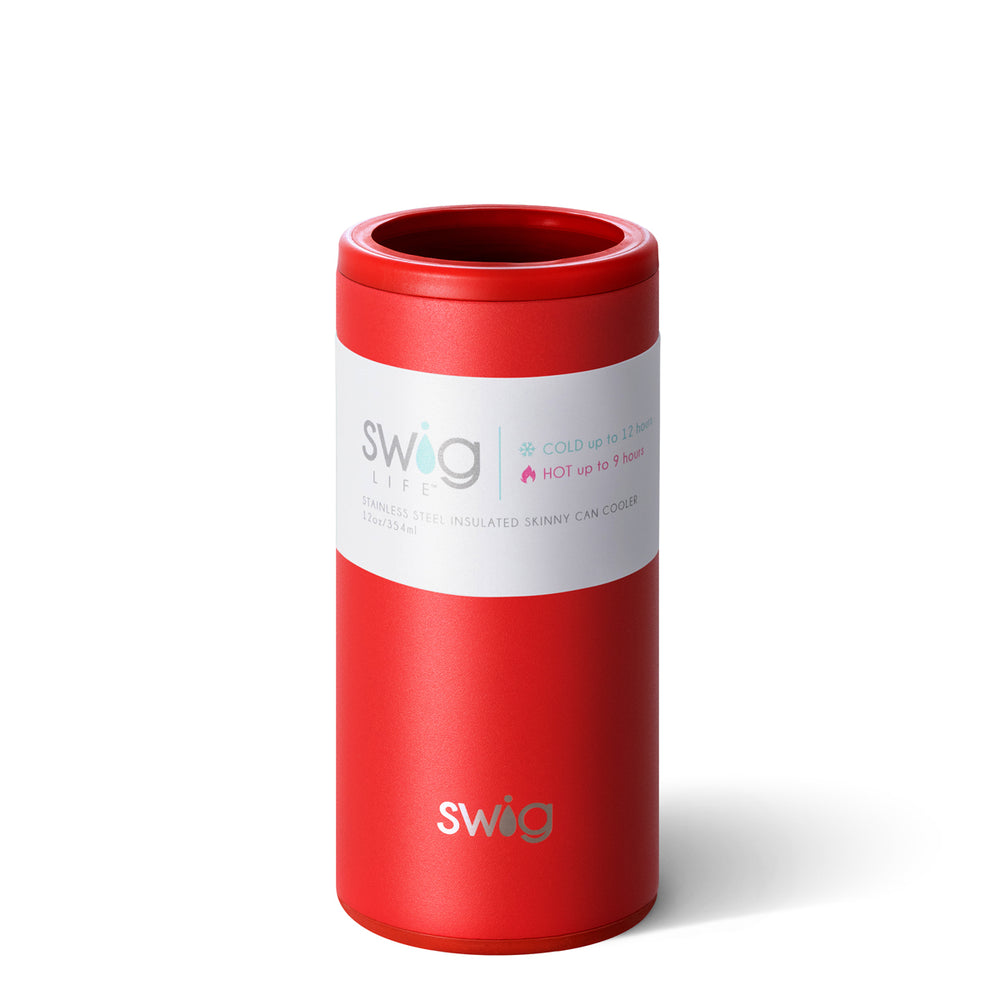 Skinny Can Cooler - Matte Red