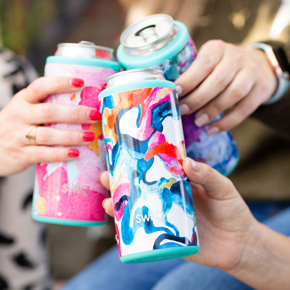 Skinny Can Cooler - Color Swirl