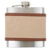 Canvas Flask - Tan