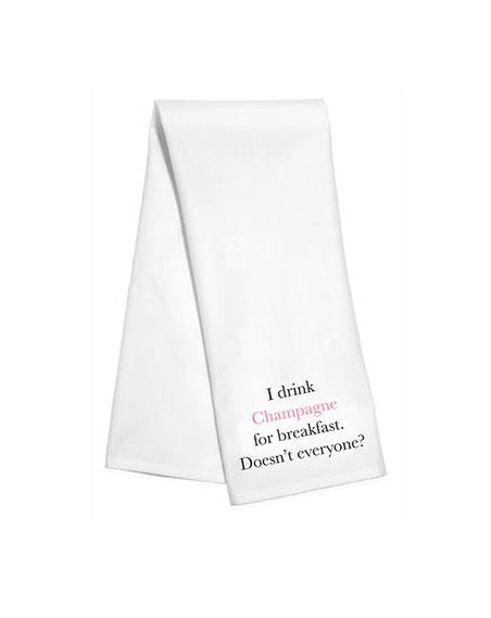 Champagne for Breakfast Bar Towel