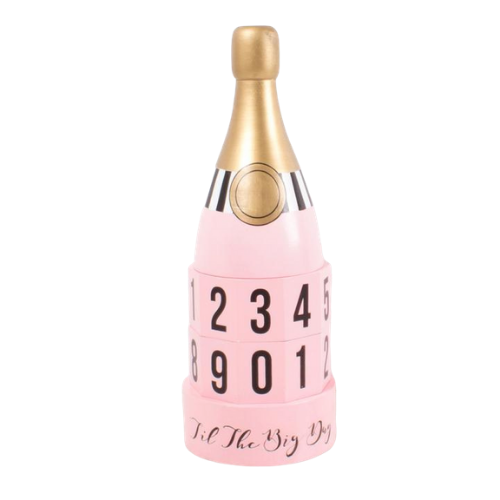 Rosé Bottle Wooden Countdown Calendar