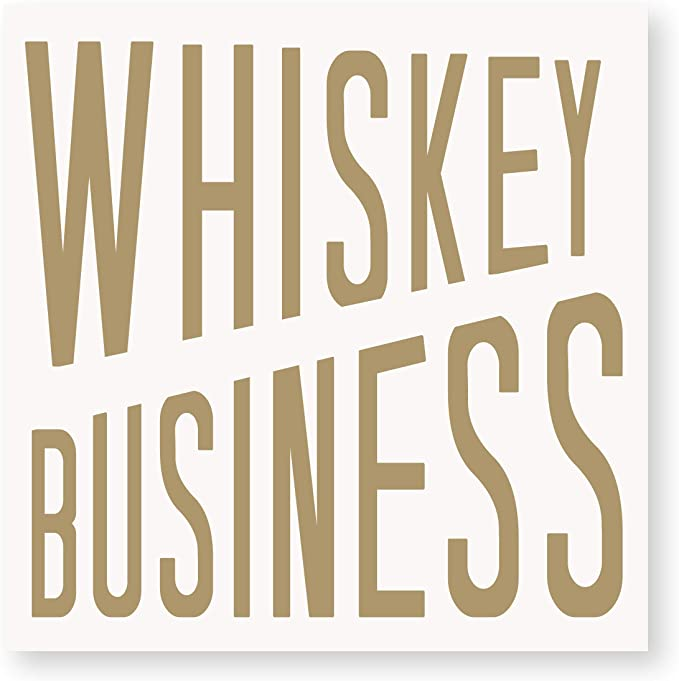 """Whiskey Business"" Cocktail Napkins"