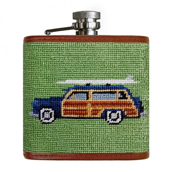 Smathers & Branson Woody Needlepoint Flask