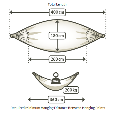 family hammock dimensions