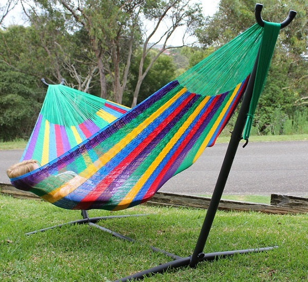 Moveable hammock stand hook system