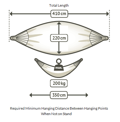 Queen hammock dimensions