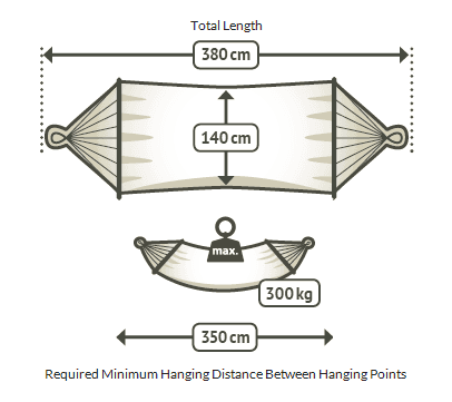 Mexican king resort hammock dimensions