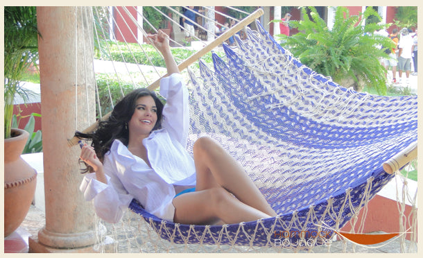 Mexican celebrity in hammock