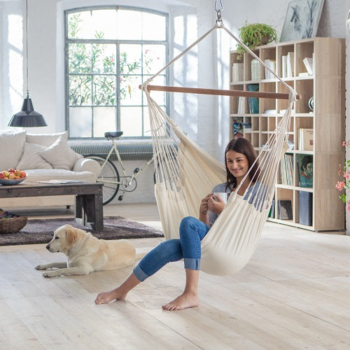Chair Hammocks - White Cotton Chair Hammock