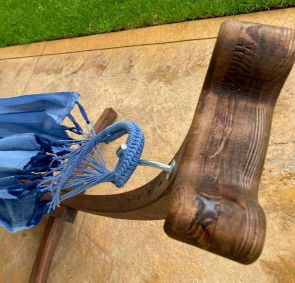 Wooden Hammock Stand, front facing hook