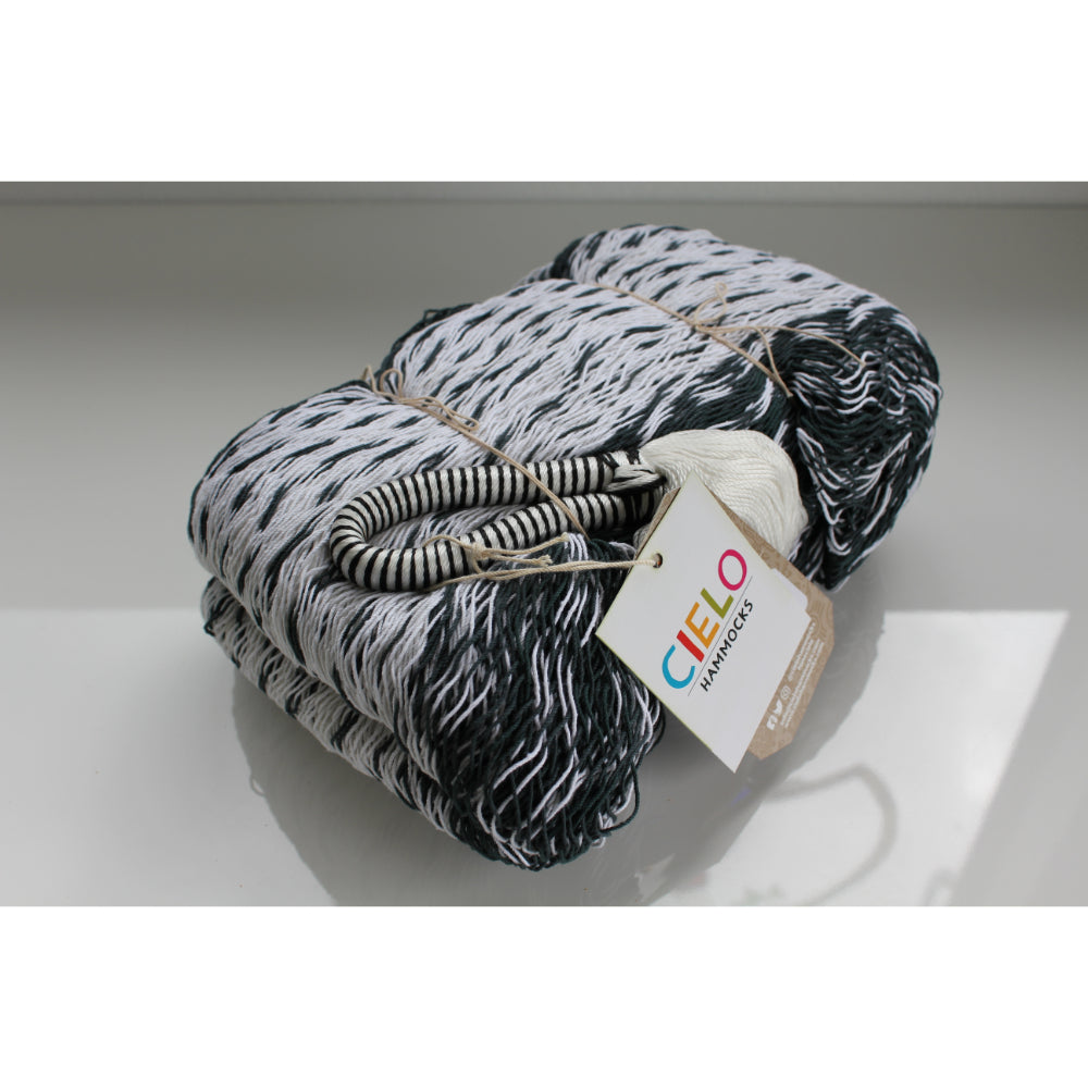 Black and white cotton hammock