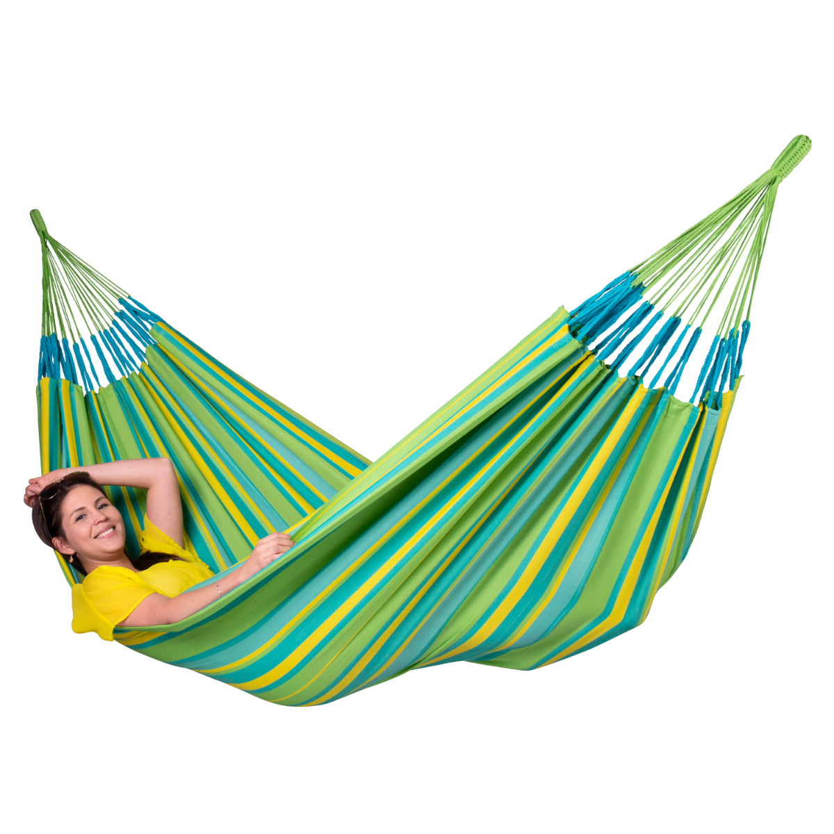 Family Size Hammock in Lime Green Colours