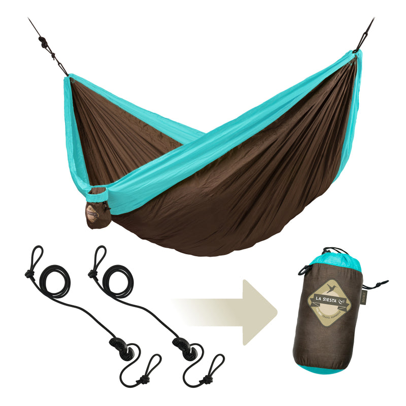 Camping hammock with included hanging accessories