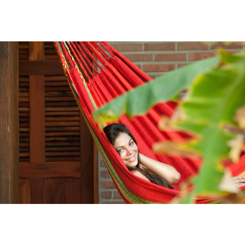 Colombian Family Organic Cotton Hammock - Chilli